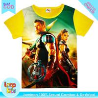 Baju / Kaos Anak Murah Lengan Pendek Logokids Motif Thor 1-10 Tahun