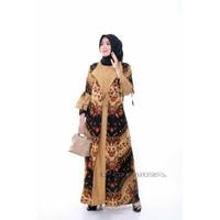Batik Gamis Wanita Cardi Lonceng Baju Pesta Kondangan Arisan Cantik