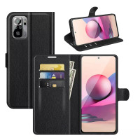 Wallet Flip Leather Case Xiaomi RedMi Note 10 4G - Dompet Cover Stand