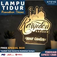 Lampu Tidur LED Akrilik LT2001 – Ramadan Edition