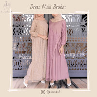 Dress Maxi Brukat / Gamis Muslim / Baju Kondangan / Baju Lebaran