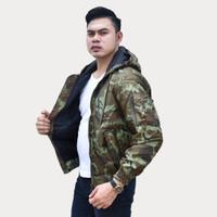 Emoline Bomber Jacket Army - Jaket Bomber Loreng Army Coklat Muda
