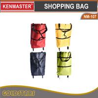 TAS BELANJA LIPAT RODA SERBAGUNA / KENMASTER TROLLEY SHOPPING BAG - Polos