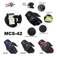Sarung Tangan Motor Gloves MCS-42 Full Finger Touch Screen Probiker
