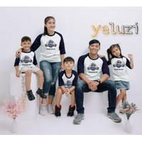 Kaos baju pakaian atasan Couple sarimbit keluarga JEEP putih