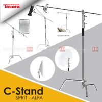 Takara C-Stand SPIRIT ALFA Stainless Steel Studio Lighting Photograpy