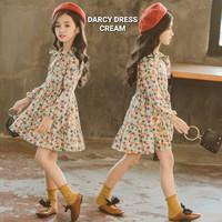 DARCY DRESS CREAM DRESS ANAK KOREA IMPOR GIPSY DRES BAJU KASUAL BUNGA - 130