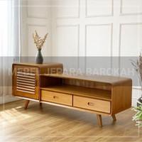 promo meja tv bufet tv rak tv minimalis kabinet kayu jati