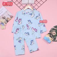Pajamas Sunday uk Bayi 6-18 Bulan / Baju Tidur Anak Perempuan IMPORT