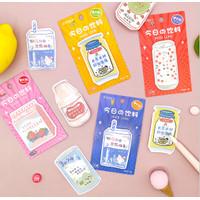 Sticky note Korean Milk juice Notes paper lucu