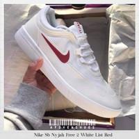 Sepatu Original Nike Sb Nyjah Free 2 White List Red BNIB