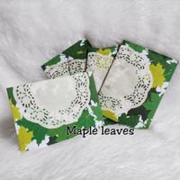 Amplop angpao angpau motif daun handmade