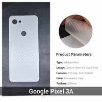 Anti Gores Google Pixel 3A Pelindung Belakang Film 3D skin carbon