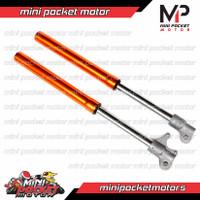 Shock Depan Motor Mini Trail 49cc 50cc USD ( UpSide Down ) Mesin Tarik