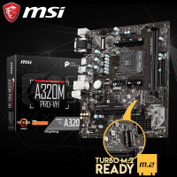 MSI A320M PRO-VH AMD A320 DDR4 M.2 Ready - AM4 Motherboard