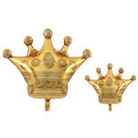 Balon Foil Bentuk Crown Mahkota Gold / Rose Gold