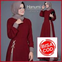 COD - Baju Gamis Syari Wanita Muslim Terbaru Hanumi Dress Murah Busui - variasi