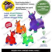Mainan Kuda Kudaan Karet Jumping Animal Jumbo Bonus Music & Lampu LED