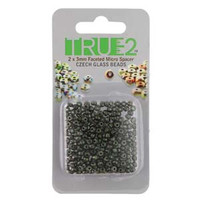 Spacer Micro Faceted 2x3mm Beadsmith