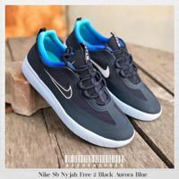 Sepatu Original Nike Sb Nyjah Free 2 Black Aurora Blue BNIB