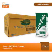 Susu UHT Full Cream Greenfields [12 Pcs x 1 Liter]