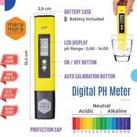Marumura PH Meter Digital Pengukur Keasaman Cairan Air Hidroponik