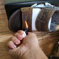 sandal kulit asli 100% sandal terkini pria