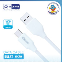 Kabel Data Excellence Bulat 1m For Type C dan Micro USB