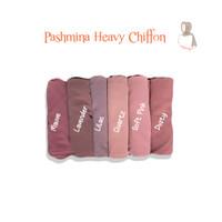 Jilbab Pasmina Heavy Shiffon Ceruty Pashmina shawl By Upitpita