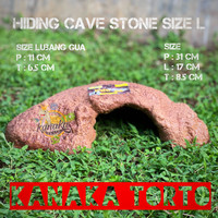 Hiding Cave Stone Size L Reptile Kadal Gecko Ular Ikan Axolotl Torto