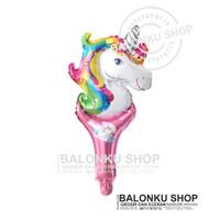 Balon Tongkat / Balon Foil Pentung / Balon Karakter Unicorn