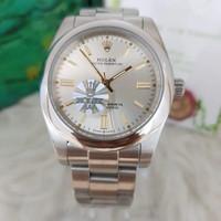 Jam Tangan Pria Rolex Oyster Perpetual White 40mm PREMIUM