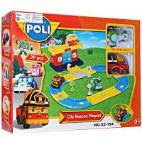Mainan Edukasi Anak Robocar Policar City Rescue Playset XZ-194 Mobil