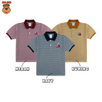 MacBear Baju Anak Laki-laki Kaos Polo Stripe-A-Holic Collection Boat