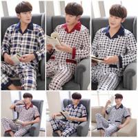 Baju tidur Pria/ Piyama pria dewasa bahan satin premium import