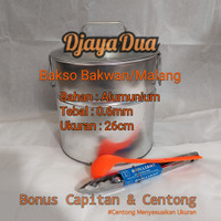 Dandang Bakso Bakwan/Malang Bahan Alumunium Uk.26x26 tebal 0.6mm