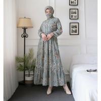 Gamis Cewek Muslim Dewasa Baju Pesta Wanita Maxi Dress Terbaru Casual