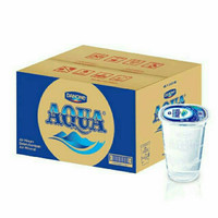 Aqua Gelas 220ML - Air Mineral 1 Dus Gojek Grab only