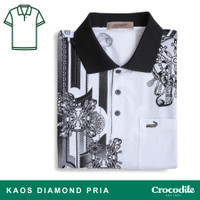 Crocodile DIAMOND 1674 White - Baju Kaos Kerah Pria Men Polo Original