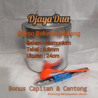 Dandang Bakso Bakwan/Malang Bahan Alumunium Uk.24x24 tebal 0.6mm