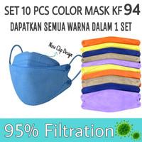 [SET] Masker Wajah KF94 Color Face Mask Masker Wajah KF 94 Lipat