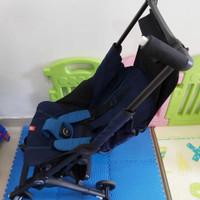 Preloved Stroller Bayi Lipat GB Pockit Plus warna Biru + Backpack