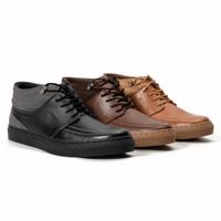 Sepatu Sneakers Pria Davies High Casual Original Fordza Kulit Asli Q73
