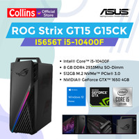 ASUS ROG PC Desktop G15CK-I5656T i5-10400F 8GB 512GB GTX1650 4GB W10