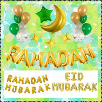 Balon Set Ramadan Eid Mubarak Paket Balon Huruf Foil Rose Gold Silver