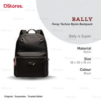 Bally Ferey Techno Nylon Backpack - Black