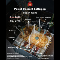 Hampers Idul Fitri Lebaran Paket Lengkap Peach Gum 10 in 1 Free Kurma
