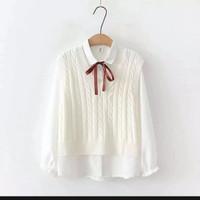 atasan wanita vest Ling cabel(No Inner) Rajut wanita Korea style