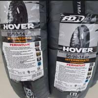 PAKET 2 BAN LUAR TUBLES HOVER CROS FDR 80/90-14 & 90/90-14 + fentil
