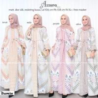 Baju Gamis Wanita Premium Terbaru - Dress Maxy Muslim Remaja azzura